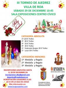 Torneo Navidad Roa de Duero 18-19 @ Sala Exposiciones Centro Cívico Roa